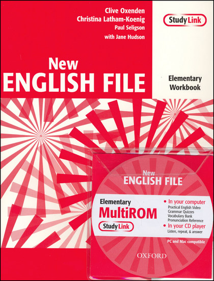 New English file elementary Workbook Key + CD ROM pack - Clive Oxenden, Paul Seligson, Christina Latham-Koenig