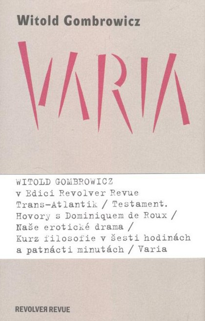 Varia - Witold Gombrowicz