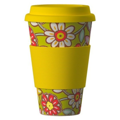 Termohrnek Bamboo Cup 400ml Daisy Yellow