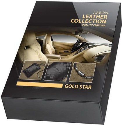 AREON LEATHER COLECTION Gold star